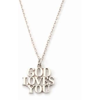 HIROB GOD LOVES YOU NECKCHAIN シルバー フリー