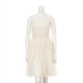 ヴァレンティノ コットン ドレス サイズ38 レディース ホワイト