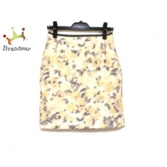 アプワイザーリッシェ スカート サイズ2 M レディース ベージュ×グレー×マルチ 花柄 新着 20190728