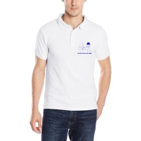 EMILYZ メンズ ポロシャツ トップス 今季最新 Tシャツ ビーバス バットヘッド ポスター 個性的な 半袖Tシャツ White 半袖シャツ 着心地が良い Size XXL