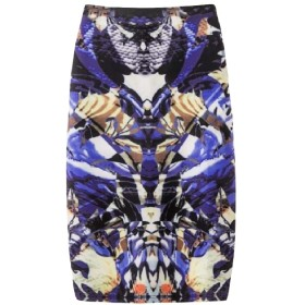 VITryst 女性特大ストレッチbodyconデジタルプリントAラインミディスカート 22 XL
