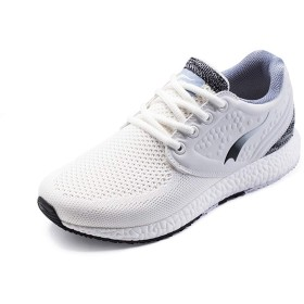[JP-ONEMIX] レディース レースアップ スポーツ ジョギング 編み クッション スニーカー 靴 36EU 足の長さ 225mm ホワイトブラック