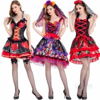 花嫁ゾンビ ハロウィン衣装 ゾンビ デビル 巫女 魔女風 ヴァンパイア 吸血鬼 レディース コスプレ コスチューム 仮装 セクシー