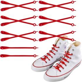 [INFLATION] 結ばない 靴紐 スニーカー 伸びる靴ひも 簡単取り付け 伸縮性 靴ひも 子供 大人 高齢者 手先の不自由な方対応 おしゃれ 脱ぎ履きが楽々 オレンジ