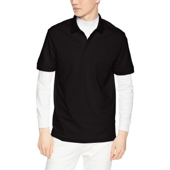 [ラコステ] POLOS レギュラーフィット ストレッチ パリポロシャツ (半袖) メンズ ブラック EU 004 (日本サイズL相当)
