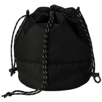 (GU)アクティブドローストリングショルダーバッグ BLACK