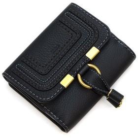 クロエ 3つ折り財布 レディース CHLOE レディース ギフト プレゼント レザー 本革 MARCIE マーシー CHC10UP572161 001 BLACK ブラック