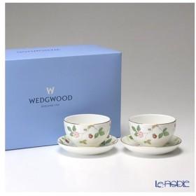 ウェッジウッド(Wedgwood) ワイルドストロベリー ジャパニーズティーカップ&ソーサー ペア