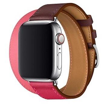 Apple Watch Series 4 アップルウォッチ 4代 シリーズ バンド ウォッチ交換ベルト pu 革レザー使用 多色 マルチカラー シンプル ...