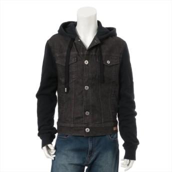 モスキーノ コットン デニムジャケット サイズ50 メンズ ブラック