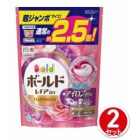 ボールド ジェルボール3D 癒しのプレミアムブロッサムの香り 詰替 超ジャンボサイズ 44個入 2個セット P&Gジャパン 洗濯用洗剤