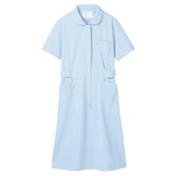 住商モンブラン ナースワンピース(半袖) 医療白衣 サックスブルー(水色) L 73-1456(直送品)