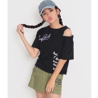 アナップキッズ&ガール(ANAP KIDS&GIRL)/リングZIP付ワンショルダービッグTシャツ