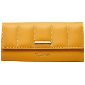 [テンカ]財布 レディース 長財布 三つ折り おしゃれ 可愛い 大容量 小銭入れ ウォレット 人気 カード入れ 女の子 収納 女性 多機能 プレゼント 軽量 オレンジ