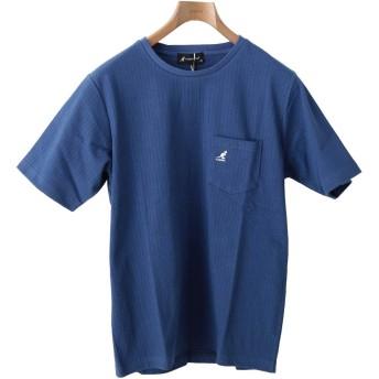 [カンゴール] KANGOL Tシャツ ワンポイント きれいめ 無地 吸水速乾 ブルー Lサイズ