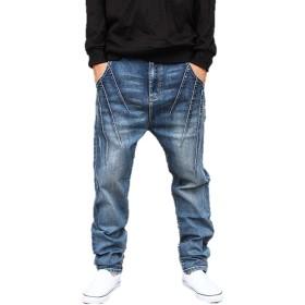 メンズ デニム ヴィンテージ ハーレムパンツ パンツ ジーンズ ジーパン ダメージ ボトムス K11002 (3XL)