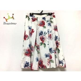 アプワイザーリッシェ Apuweiser-riche スカート サイズ2 M レディース 白×レッド×マルチ 花柄 新着 20190727