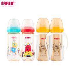 【Farlin】童趣PPSU母乳實感寬口奶瓶4支組(330ml*2+270ml*2)