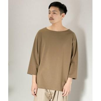 SENSE OF PLACE(センスオブプレイス) トップス Tシャツ・カットソー ポンチボートネックTシャツ(7分袖)