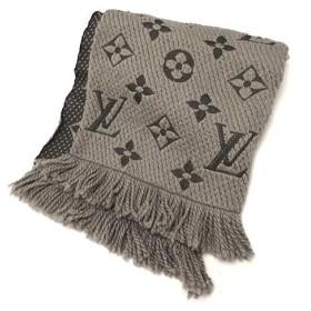 LOUIS VUITTON(ルイヴィトン) エシャルプ・ロゴマニア マフラー 衣類 ウール シルク グレー 18031184 【アラモード】