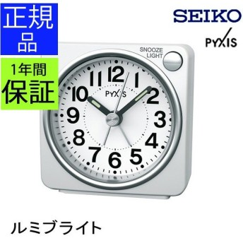 SEIKO セイコー 置時計 目覚まし時計 置き時計 スイープムーブメント 連続秒針 アラーム 電子音 スヌーズ 卓上 アナログ おしゃれ付き ホワイト