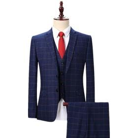 [CEEN] メンズ スーツ 2つボタン 上下セット スリム ビジネス 結婚式 入学式
