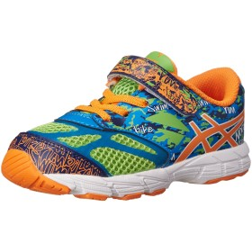 [ASICS] Noosa Tri 10 Ts Flash Green/Flash Orange/Blue Ankle-High Slip-On Shoes - 4M