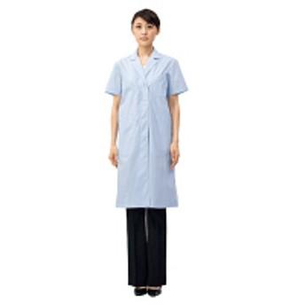 住商モンブラン ドクターコート(診察衣) レディス 半袖 サックス シングル 4L 51-004(直送品)