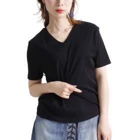 [ゴールドジャパン] 大きいサイズ レディース カットソー Tシャツ 接触冷感 日本製 sw-0203 5L ブラック