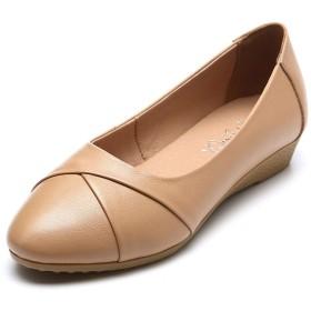 [新作店舗] シニアシューズ レディース パンプス 婦人靴 モカシン 介護シューズ 軽量 22.0-26.5CM 歩きやすい 疲れにくい 安定感 柔らか 滑り止め 抗菌 母へのギフト お出かけ 散歩 四季 キャメル