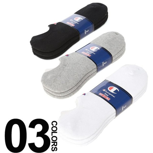 チャンピオン 靴下 大きいサイズ メンズ サカゼン ワンポイント ゴーストソックス 3足セット Champion