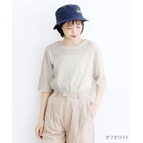 メルロー サーマルハーフスリーブTシャツ レディース オフホワイト FREE 【merlot】