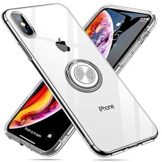 iPhonexs ケース スマホリング リング クリアケース 薄型ケース 透明 ソフト TPU アイフォンxs ケース リング付き りんぐ リング...
