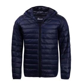 [ハイハート] ダウンジャケット メンズ ダウンコート ウルトラライト ダウン 軽量 防寒 ネイビー S