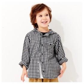 (F.O.Online Store/エフオーオンラインストア)フード付きシャツ_UVカット/レディース ブラック