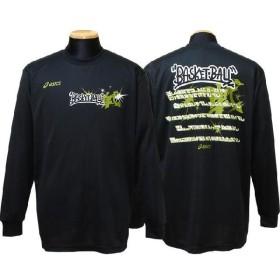 アシックス プリントロングTシャツ (ブラック) XB636N-90A
