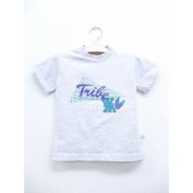 古着 キッズ 子供服 Tシャツ 90年代 Trive USA製 グレー 霜降り