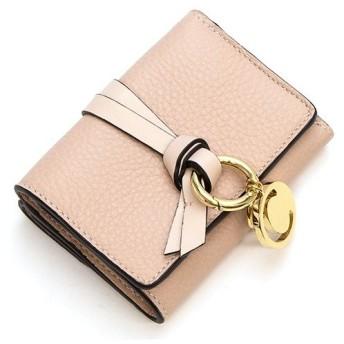 クロエ 3つ折り財布 レディース CHLOE レディース ギフト プレゼント レザー 本革 ALPHABET アルファベットCHC17AP946H9Q 24L BLUSH NUDE ブラッシュヌード