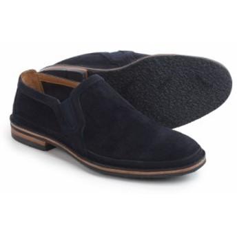 トラスク Trask メンズ スリッポン・フラット シューズ・靴 Blaine Perforated Shoes - Suede, Slip-Ons Navy Suede