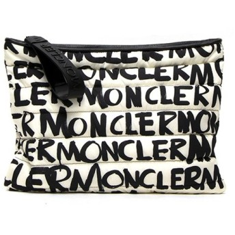 モンクレール クラッチバッグ レディース MONCLER ホワイト/ブラック POUCH GM 60041 00 539GX 999