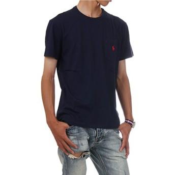 (ポロ ラルフローレン) POLO RALPH LAUREN/Pocket Short Sleeve Tee ポケット ワンポイント ベーシック 半袖Tシャツ ポケT (M, フレンチネイビー) [並行輸入品]