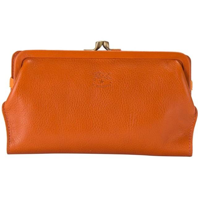 イルビゾンテ Il Bisonte がま口 長財布 ロングウォレット C0671 オレンジ(166) 財布 レザー 革 [並行輸入品]