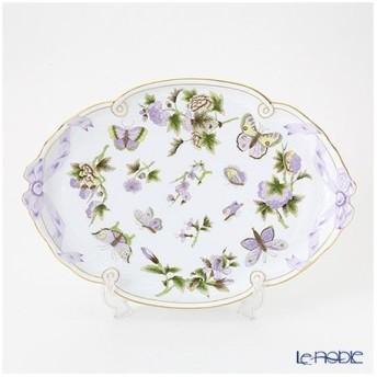 ヘレンド(Herend) ロイヤルガーデン EVICT1 00400-0-00 パーティートレイ 38cm グリーン 皿