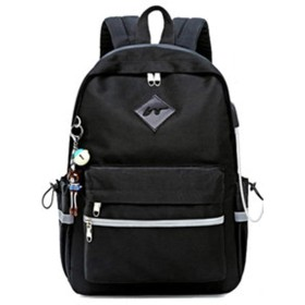 ZUOMAリュックサック 旅行バッグ 大容量 トートバッグ 充電バッグ リュック 高校生/大学生 登山リュック ショルダーバッグ バックパック (高40長30幅13, 黒)