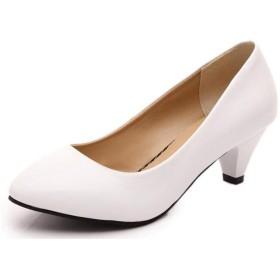 [candy88] レディース サンダル ハイヒール パンプス 美脚 歩きやすい ファッション オシャレ 通勤 オフィス 結婚式 デート6cm (39(24.5cm), ホワイト)