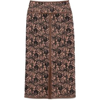 Lily Brown リリー ブラウン フラワー刺繍タイトロングスカート