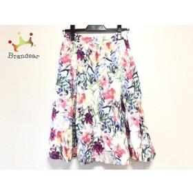 アプワイザーリッシェ スカート サイズ2 M レディース アイボリー×ピンク×マルチ 花柄 新着 20190728