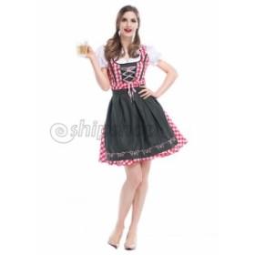 コスプレ ハロウィン キャラクター ウエートレス 大人用 民族衣装 レディース メイド 可愛い イベント パーティー グッズ