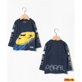 kladskap プラレールコラボ 新幹線プリントTシャツ(紺)
