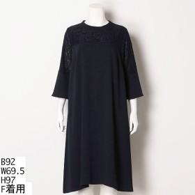 [マルイ] 【大きいサイズ】Aラインスタンドカラードレス/ラクープ(LACOUPE)